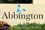 Abbington community sign